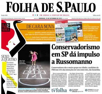 Folha de S. Paulo, setembro de 2012.