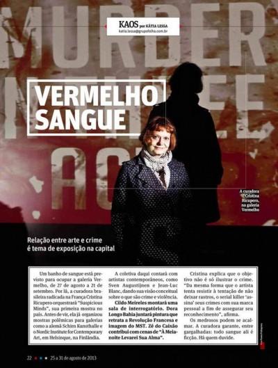 Revista sãopaulo, agosto de 2013.
